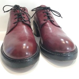 MOMA Leather Oxford Lace-Up Shoes Heels Size 8-8.5